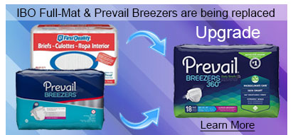 IBO Full Fit Diaper Briefs and Breezers Adult Briefs Replaced by Prevail Breezers 360