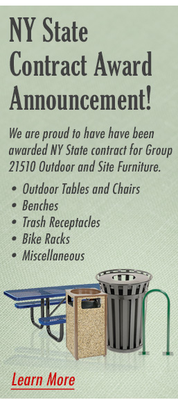 NY State contract for group 21510 which consists of outdoor and site furniture
